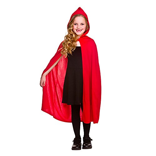 Halloween Hooded Cape - Childrens - RED Kids Fancy Dress