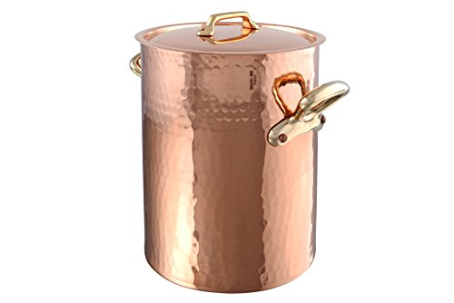 Mauviel Made In France M'tradition 2157.24 13.7-Quart Soup Pot and Lid with Bronze Handle