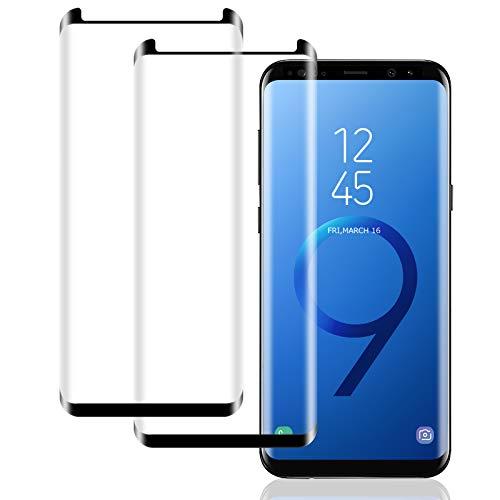IceboyHHH Verre Trempé pour Samsung Galaxy S9 [2 pièces] Haute Qualité 3D Incurvé Couverture Complète Dureté 9H, Sans Bulles, Film de Protection d'Écran pour Samsung Galaxy S9