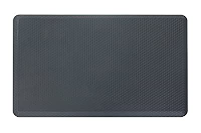 "NKV Premium Anti-fatigue Comfort Floor Mat 30"" x 19"" x 3/4"" for Kitchen, Office, Standing Desks and Garages"