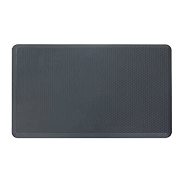 NKV Premium Anti-fatigue Comfort Floor Mat 30  x 19  x 3/4  for Kitchen, Office, Standing Desks and Garages - Dark Grey