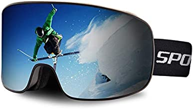 OULAIQI Ski Snowboard Goggles Ski Goggles for Men Women Windproof Scratch Resistant OTG Snow Goggles UV Protection Glasses for Cycling Skating Skiing