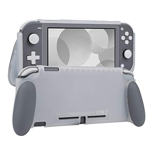 NA Protective Case for Switch Lite, Grip Case Cover for Switch Lite, Grip Cover in Silicone with Anti-Scratch and Shock-Absorption Soft TPU (Grip Case, Gray)