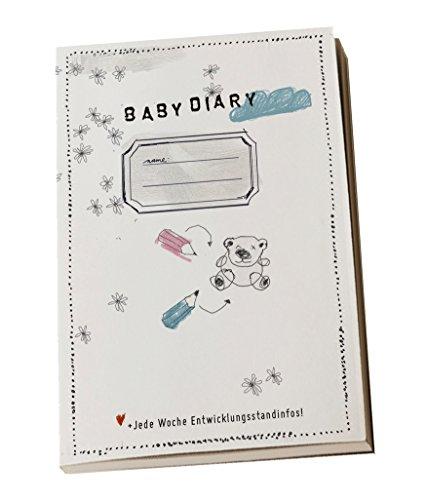 Diario de bebé, Baby Diary con Desarrollo Pasos para el primer año de vida, A6, gebunden