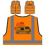 Pastelería Sabrosa Chaqueta de seguridad naranja personalizado de alta visibilidad r388vo