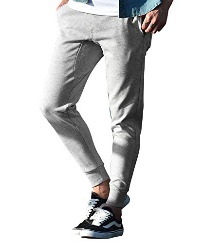 [RUBIK(ルービック)] ジョガーパンツ スウェット スキニー スリム 細身 タイト ストレッチ おしゃれ 美シルエット XL 杢グレー
