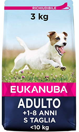 Eukanuba, Cibo Secco per Cani Adulti di Piccola Taglia, 1 - 8 Anni, con Pollo, 3 Kg