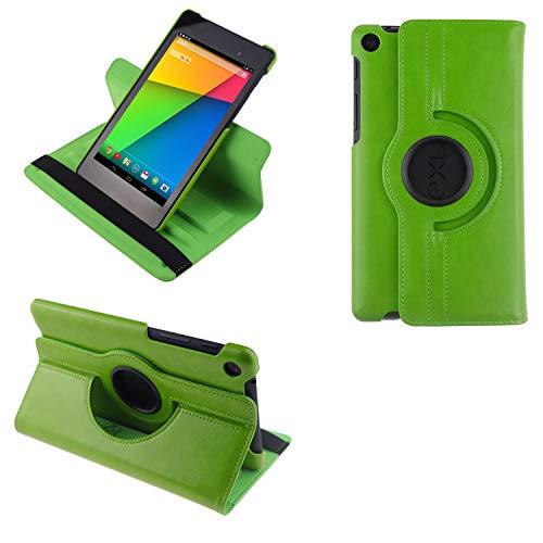COOVY® 2.0 Cover für Google ASUS Google Nexus 7 (2. Generation Model 2013) Rotation 360° Smart Hülle Tasche Etui Hülle Schutz Ständer Auto Sleep/Wake up | grün