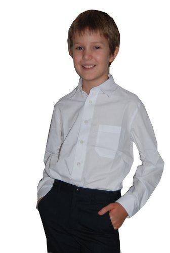 Helgas Modewelt Jungs Hemd zum Kommunionanzug, Oberhemd, Hemd für Jungen, weiß, Slim 146