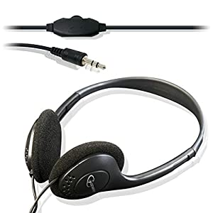 Black Stereo Headphones with Volume Control | For Desktop PC Computer, Laptop | Value Computing Audio Accessories from iChoose®