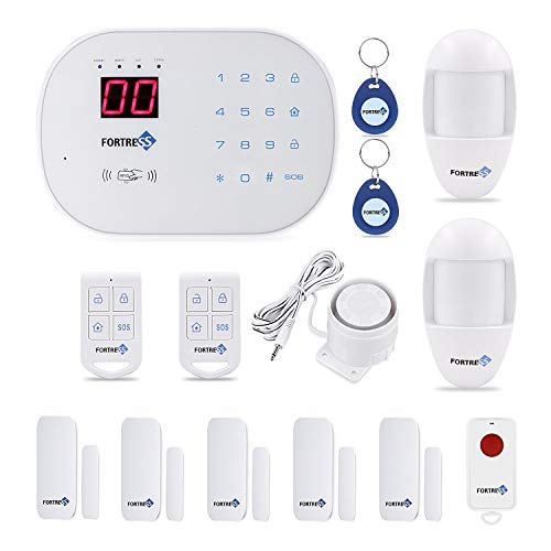 Fortress Security- Classic home security system with optional 24/7 professional monitoring – No contracts – Wireless 14 piece security kit – Compatible with Alexa – DIY home security