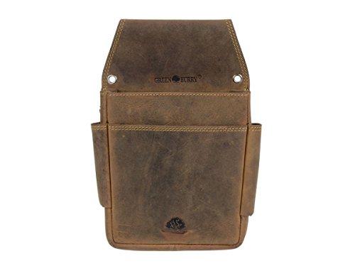 Kellnertasche Tasche Holster Gürteltasche für Geldbörse Vintage braun antik