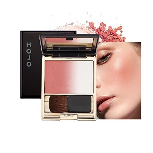 Mimore Maquillaje de paleta de rubor,los cosméticos en polvo degradado se ruborizan,Colorete de maquillaje duradero brillante,Polvo de rubor de maquillaje portátil de larga duración