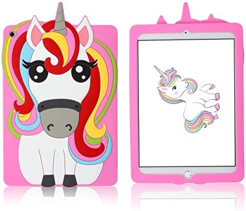 Besoar for iPad Air 2 6 Case Pink Unicorn Cartoon Animal Cute 3D Soft Silicone Design Designer product image