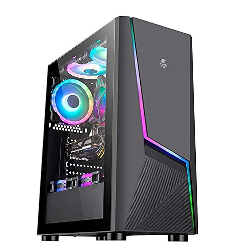 Connect Infotech Marvellous Core i5 9th Generation / 8GB DDR4 3200mhz RAM / 1TB Hard Disk + 120GB SSD/ 2GB NVIDIA GeForce GT 710 Graphic Card/Gaming Cabinet / 500W SMPS/RGB Fans with Remote Control