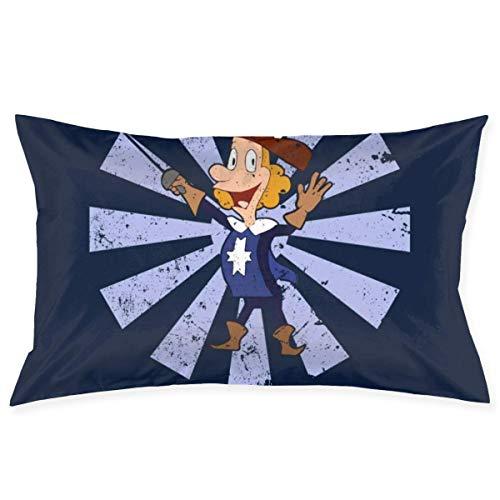 WH-CLA Pillow Cover Albert Fifth Musketeer - Rectángulo Único Japonés Retro De 60 X 40 Cm para Sofá, Funda De Cojín con Cremallera De Anime, Funda De Cojín para Sofá, Silla, Funda De ALM