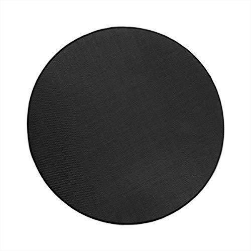 havatex Sisal Teppich Trumpf rund - hypoallergene Naturfaser | schadstoffgeprüft pflegeleicht schmutzabweisend strapazierfähig | ideal für Wohnzimmer Schlafzimmer, Farbe:Schwarz, Größe:100 cm rund