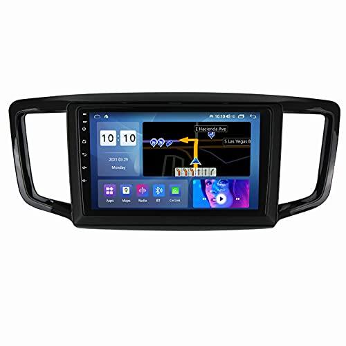 ADMLZQQ Android 10 Radio De Coche Car Audio Player para Honda Odyssey 2015-2019 GPS Navigation Bluetooth USB FM/Mandos Volante/Mirror-Link/WiFi/Cámara Trasera,M300s