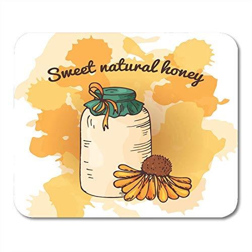 Mauspad bienen bienenhaus skizze süße natürliche lebensmittel honig produktion mousepad für notebooks, Desktop-computer mausmatten, Büromaterial