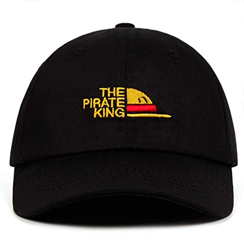 The Pirate King Dad Hat Embroidery Luffy Hat One Piece Baseball Cap Anime Fan Hats