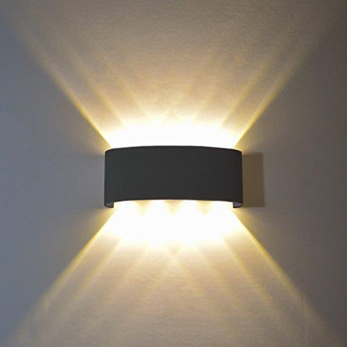 Flydeer - Lámpara de pared LED interior, 8 W, IP68, moderna