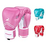 Trideer Pro Grade Boxing Gloves for Women & Kids, Kickboxing Bagwork Gel Sparring Training Gloves, Muay Thai Style Punching Bag Mitts, Fight Gloves