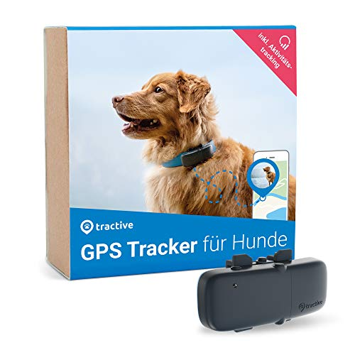 Tractive GPS Tracker für Hunde, unlimitierte Reichweite , Aktivitätstracking, wasserdicht (Neuestes Modell)