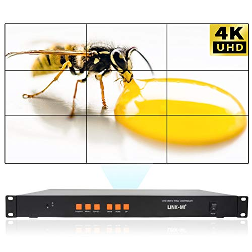 Why Should You Buy LINK-MI 3x3 4K HDMI DP Video Wall Controller for 9 LCD TV Wall Support 1x2,1x3ï...