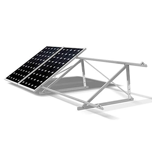 Estructura panel solar Soporte de placas solares Aluminios para todos tipos de paneles solares Tipo Suelo plano VALE PARA 4 PANEL