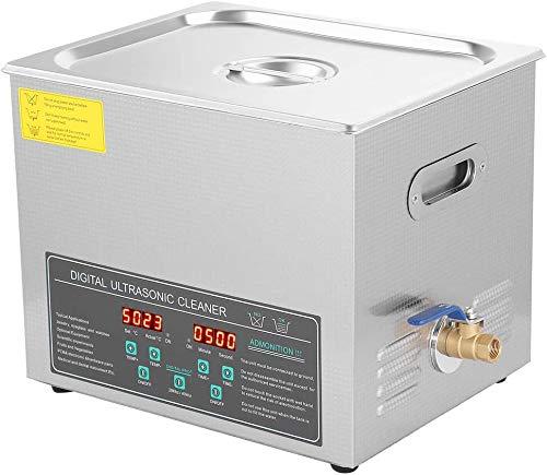 Ultrasonic Cleaner, Double-Frequency Digital Stainless Steel Ultrasonic...