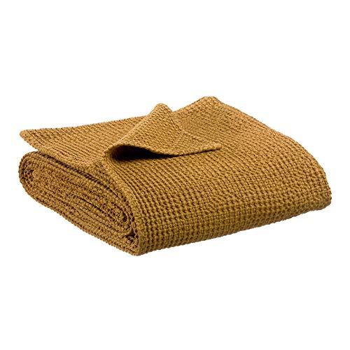 Vivaraise - Jeté de lit et de canapé Maïa – Couverture d'appoint, Couvre-lit, Couette légère – 100% Coton – Tissage nid d'abeille
