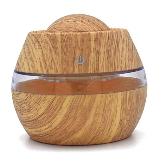 HarmonyHappy Holzmaserung_therisches_l Aromatherapie Maschine Luftbefeuchter, 300ml Luftbefeuchter Ultraschall Diffuser Aromatherapie Luftbefeuchter Holzmaserung Duftspender für ätherische (Gelb)