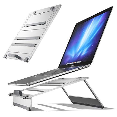 Newaner Supporto per computer con rialzo in alluminio, per desktop, supporto regolabile in altezza, PC portatile ventilato regolabile, ergonomico, per MacBook Pro Air, Notebook(11-17 pollici)