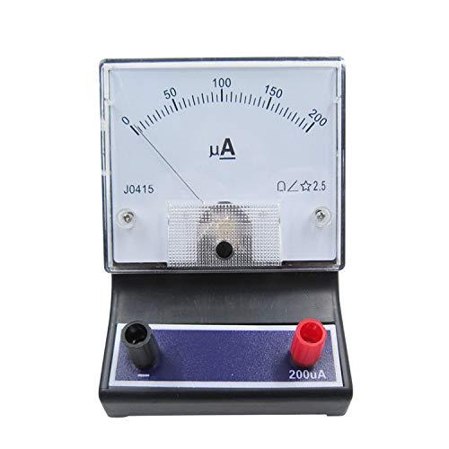 BIUYYY Analoger Gleichstrom-Mikroamperemeter-Strom Panel Amp Gauge Meter 2.5 Genauigkeit Für Auto Circuit Measurement Tester