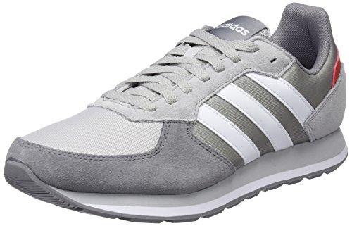 adidas 8K, Scarpe Running Uomo, Grigio (Gretwo/Ftwwht/Grethr 000), 41 1/3 EU