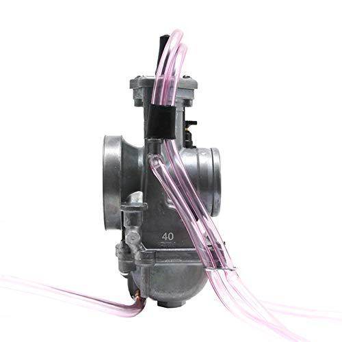 love lamp Carburador Compatible con Keihin PWM 34 36 38 40 42mm Carburetor 2T 4T Motor para Motocicletas Scooter UTV ATV Dirt Bike Usado 250cc Carbohidratos Engine (Color : 40mm)
