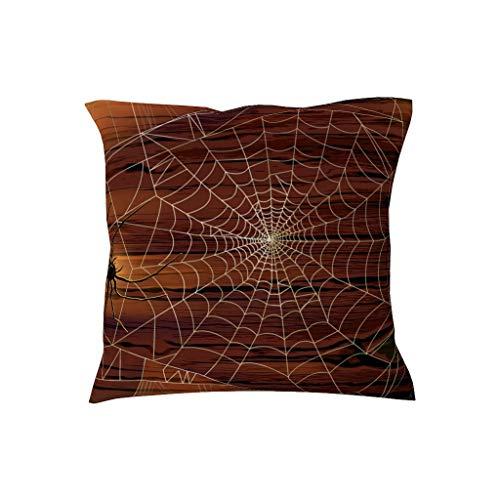 BOBONC Halloween patroon eenvoudige kussensloop sierkussen hoezen voor thuisdecoratie 18x18 Multiple Graphics spinnennet