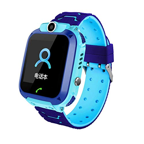 HehiFRlark Q12 - Reloj inteligente para niño, reloj de bebé / 1,44 pulgadas con gato, localizador GPS anti pérdida, monitor con caja