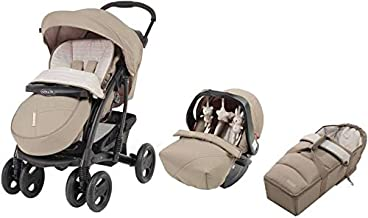 Graco Travel System Stroller, Carry Bag and Car Seat, Beige, Pack of 1