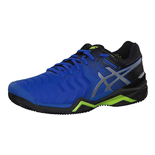 ASICS Gel-Resolution 7 Clay, Scarpe da Tennis Uomo, Bleu Flash Argent, 42 EU
