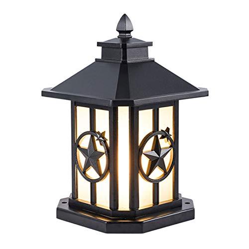 WYBFZTT-188 Lámpara de Cabeza de Columna de Pared, Puerta de Patio, Pilar, Puerta, Muelle, lámpara de Cabeza de Pared, iluminación para el hogar Impermeable al Aire Libre
