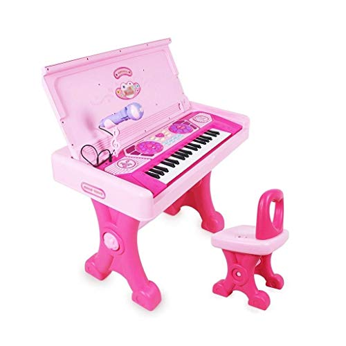 Digitale piano Children's Grote Keyboard Girl Toy Study Table Early Education Music Kids Piano 3-7 Years Old Children's Study Table (Kleur: Roze) (Color : Pink)