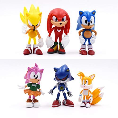 EASTVAPS Juguete Sonic The Hedgehog Anime Figura PSP Juego Muñeca Decoración