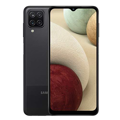 Samsung Galaxy A12 Android Smartphone ohne Vertrag, 4 Kameras, großer 5.000 mAh Akku, 6,5 Zoll HD+-Display, 64 GB/4 GB RAM, Handy in Schwarz, Deutsche Version