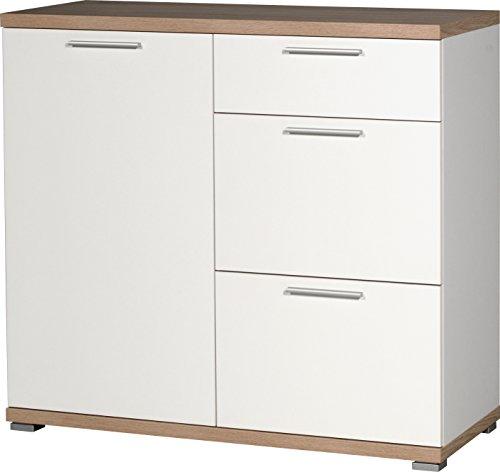 Commode duim wit/afzetting: Sonoma-eiken-Nb. Dressoir kast dressoir