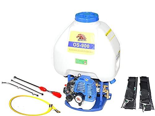 BRACOG - Mochila para sulfatar 30L - Motor Gasolina de 2 Tiempos - Desplazamiento - 26CC - Mezcla de...