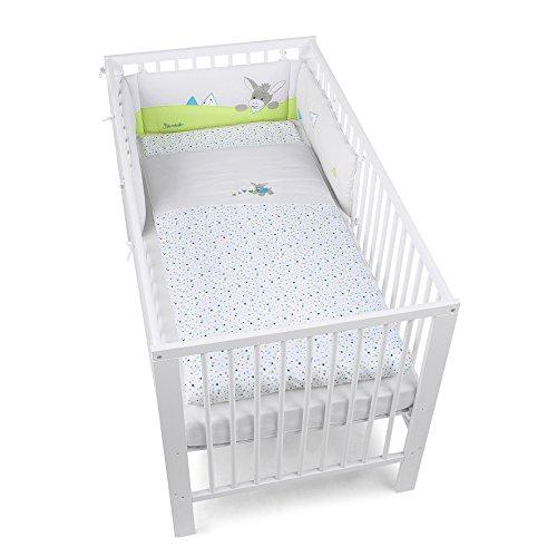 Sterntaler Bett-Set, Kopfkissen, Bettdecke und Bett-Nestchen, Esel Erik, Alter: Für Babys ab der Geburt, Mehrfarbig