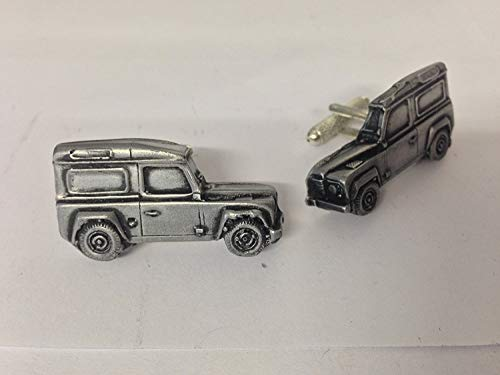 Prideindetails – Land Rover Defender Boutons de manchette 3D en étain, Forme de voiture classique, Ref115