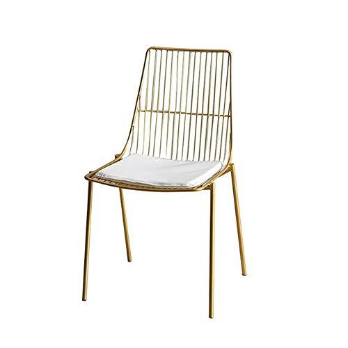 Startseite Einfacher Dining Chair, Kreative Schmiedeeisen Mit Rückenlehne Stuhl, Tea Shop Cafe Dining Chair Eisenstuhl,Gold