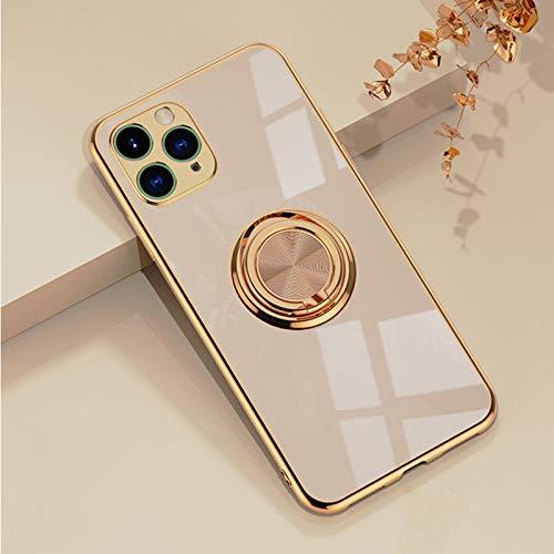 Bakicey Carcasa para iPhone SE 2020 con soporte de metal, silicona suave,...